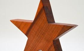 Stern aus Birnenholz