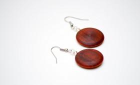 Ohrringe aus Redheart Holz