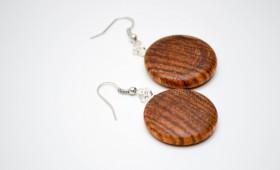 Ohrring aus Zebrano Holz