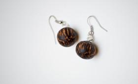 Ohrring aus Palm Holz